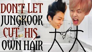 Baixar Don't let Jungkook cut his own hair | bts stickman