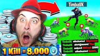 ¡1 KILL= 10,000 PAVOS L AL MEJOR YOUTUBER DE FORTNITE! 😱😭 *TERMINO ARRUINADO*