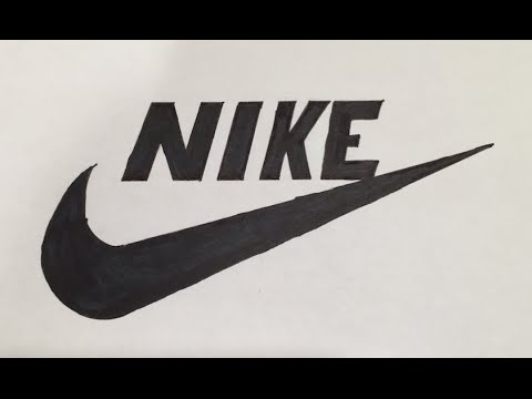 How to Draw a Nike Logo | Logo Drawing