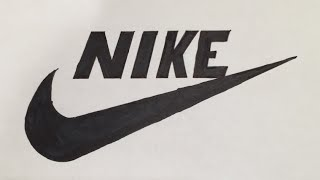 How to Draw a Nike Logo | Logo Drawing Part 3