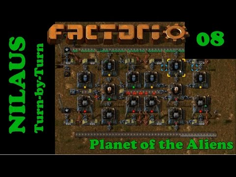 Lets Play Factorio S5E08 - Solar and Accumulators with Yuoki Batteries