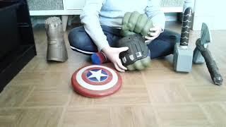 Accessoires Avengers Thor ragnarok Infinity War marteau poing Hulk captain jouets toys juguetes