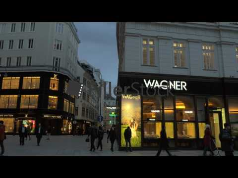 Luxury shopping area in Vienna, Austria