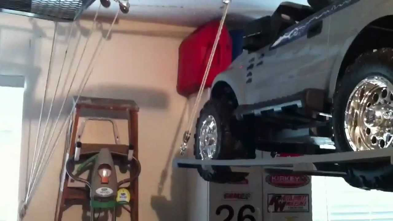 Merveilleux Home Made Hoist For Lifting Power Wheels Or Jeep Roof   YouTube