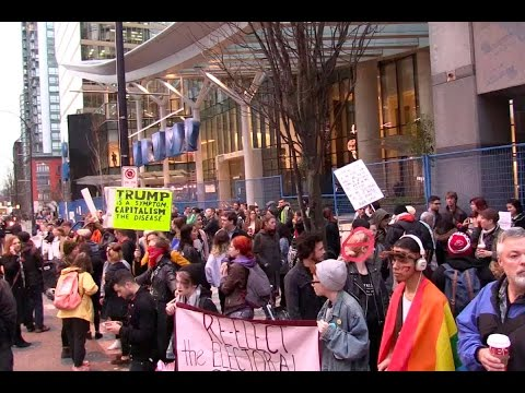 Vancouver anti-fascists stage Trump protest