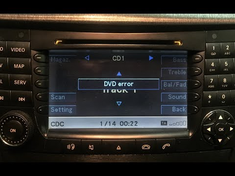 "How to FIX ""DVD Error"" on Mercedes-Benz W211 COMAND NTG1"