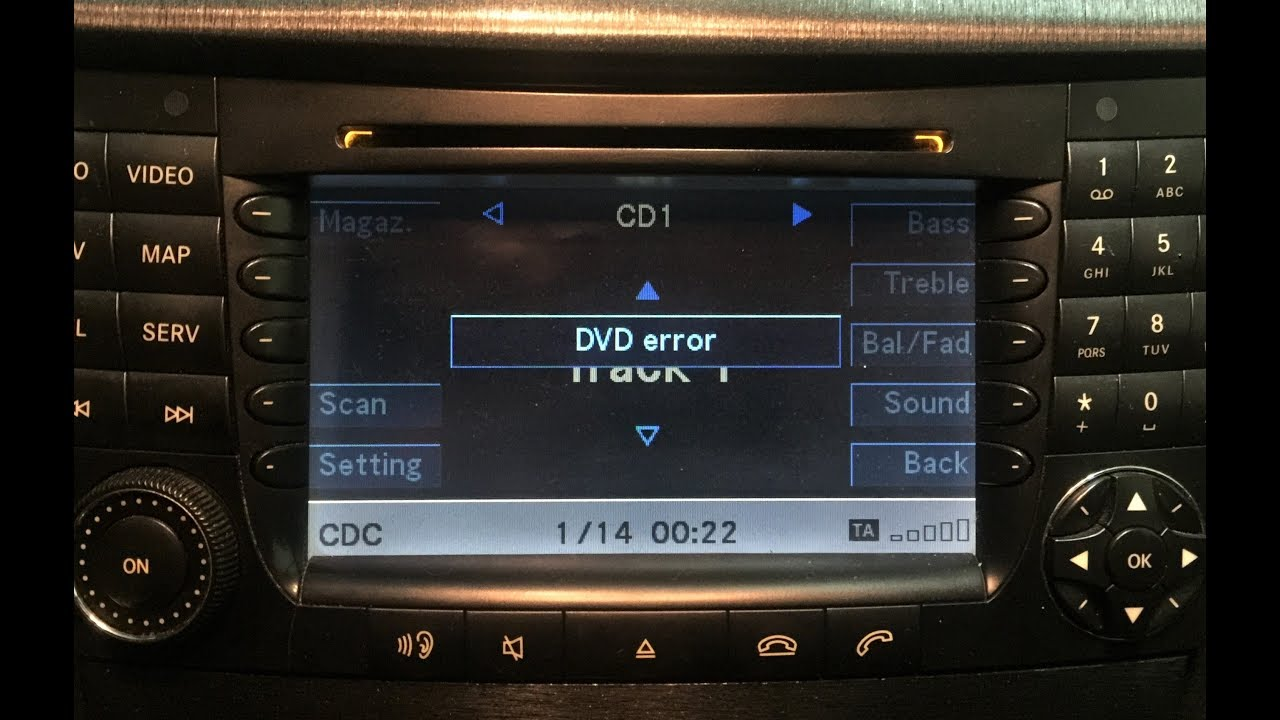 how to fix dvd error on mercedes benz w211 comand ntg1. Black Bedroom Furniture Sets. Home Design Ideas