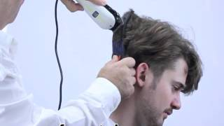 How to cut layers with clippers at home, 2013 style short sides long top.