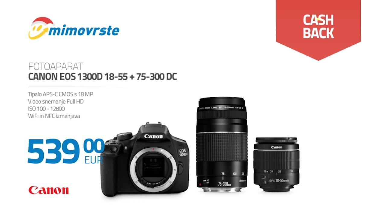 Mimovrste Canon Eos 1300d 18 55 75 300 Dc Youtube Kamera Iii