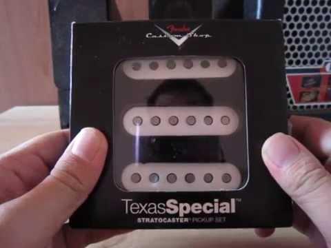 แกะกลอง Unbox Fender Custom Shop Texas Special Strat Pickup Set