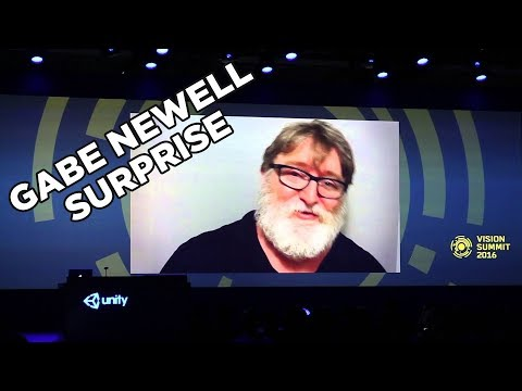 "Gabe Newell ""counts to three"" On Vision Summit 2016"