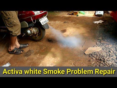 Honda Activa White Smoke Problem Repair - YouTube