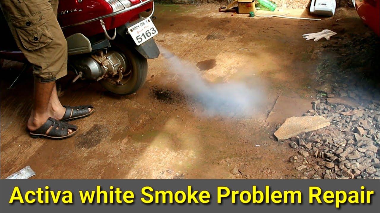Honda Activa White Smoke Problem Repair