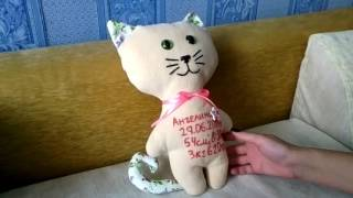 Мягкая игрушка котейка  - своими руками