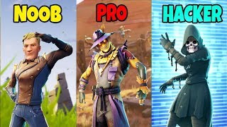 NOOB vs PRO vs HACKER - Fortnite Battle Royale (SEASON 6)
