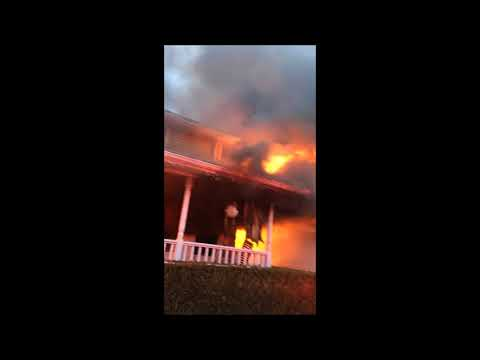 VIDEO: Christmas Lights Fire Destroys Secor Farms' Family Home