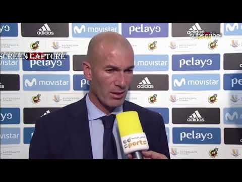 What did Zidane say after the Real Madrid win Spanish Super Cup