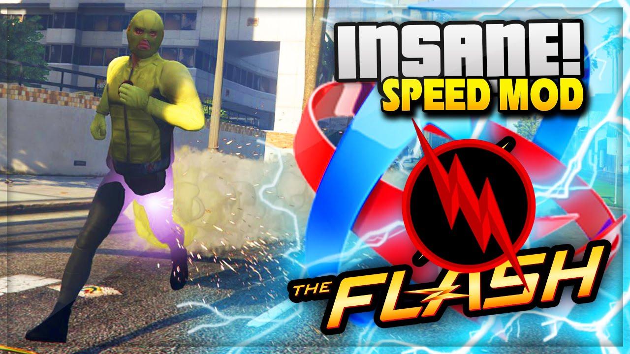 GTA 5 PC Mods: Flash Mod and Reverse Flash Super-Speed Mod