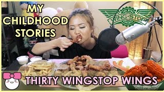 WINGSTOP CHICKEN WINGS!! MUKBANG [먹방]