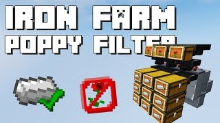 Minecraft: Iron Farm Poppy Filter