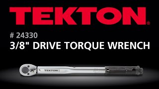 How to use the TEKTON 24330 3/8 in. Drive Click Torque Wrench