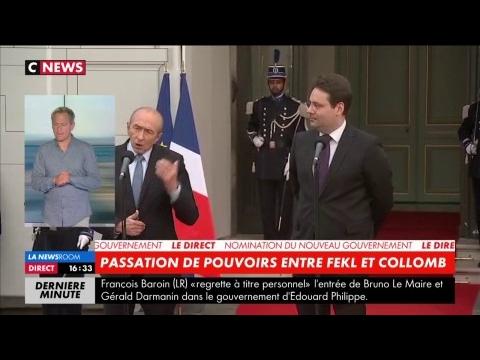 Passation de pouvoirs : le discours de Gérard Collomb