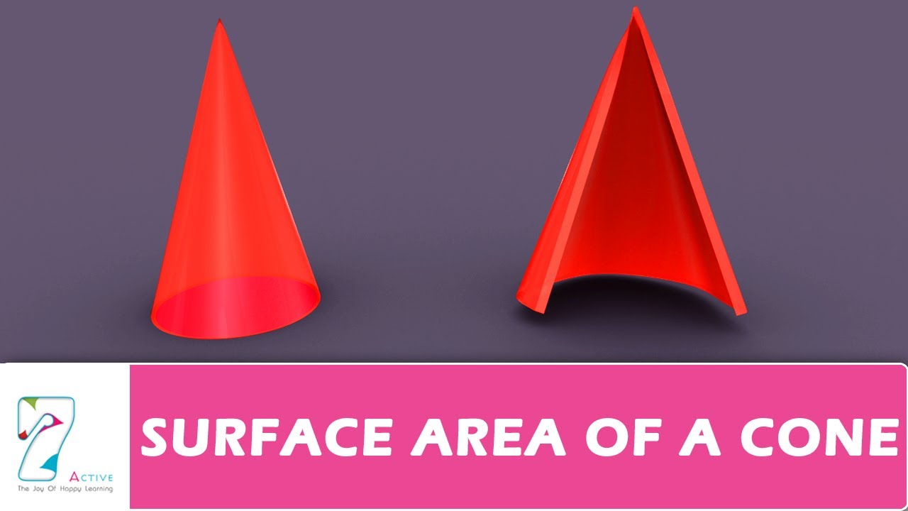 Surface Area Of A Cone Youtube