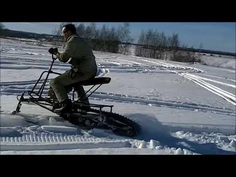 самодельный снегоход -