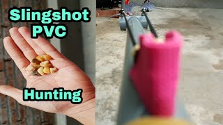 Slingshot PVC/ How to make  Slingshot from PVC pipe, simple, cheap and very powerful shot