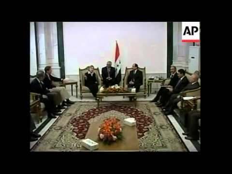 Hillary Clinton and other US senators and congressmen meet al-Maliki