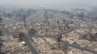 video: Watch: Oregon wildfires devastation captured by drone footage