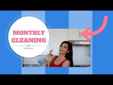 MONTHLY CLEANING ROUTINE | STAY AT HOME MOM | COLLAB WITH THE DONNELLANS