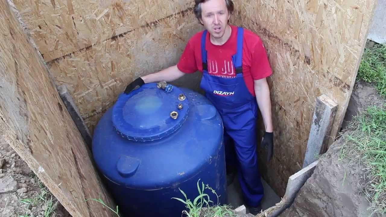 схема подключения накопительной емкости для воды