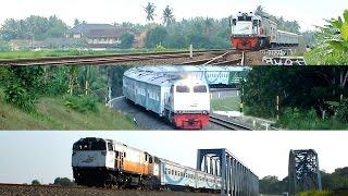 tiga lokomotif kereta api gajahwong
