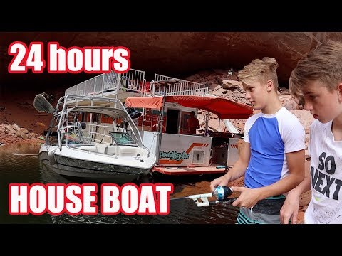 24 HOURS ON A HOUSE BOAT (gone wrong) Lake Powell Travel Vlog