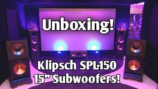 Klipsch SPL150 15' Home Theater Subwoofer : UNBOXING
