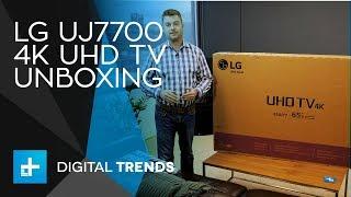 LG UJ7700 4K UHD TV - Unboxing