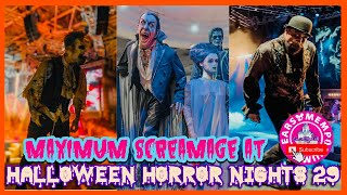 🔴Live:Maximum Screamage at Halloween Horror Nights 29. Scarezones & Academy of Villains