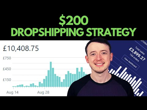 How To Start Shopify Dropshipping With Less Than $200 (Beginner Strategy) thumbnail