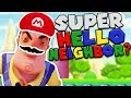 HELLO NEIGHBOR BECOMES SUPER MARIO!? THIS MAKES NO SENSE! | Hello Neighbor Mobile Rip off Games