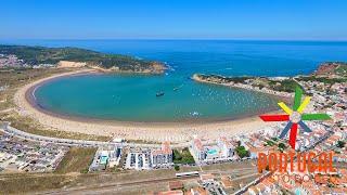 Parque Aquático insuflável de São Martinho do Porto e Gaivotas - 4K Ultra HD
