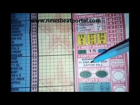 Week 35 Right-On Football Fixtures Pool Banker - YouTube