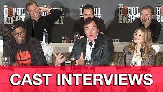 THE HATEFUL EIGHT Cast Interviews - Quentin Tarantino, Channing Tatum, Samuel L. Jackson