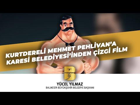 kurtdereli mehmet pehlivan'a KARESİ BELEDİYESİ'nden çizgi film