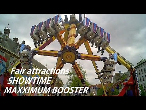 Fair attractions: Maxximum booster & Show Time [HD]