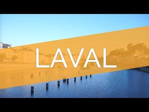 Laval et ses bords de Mayenne