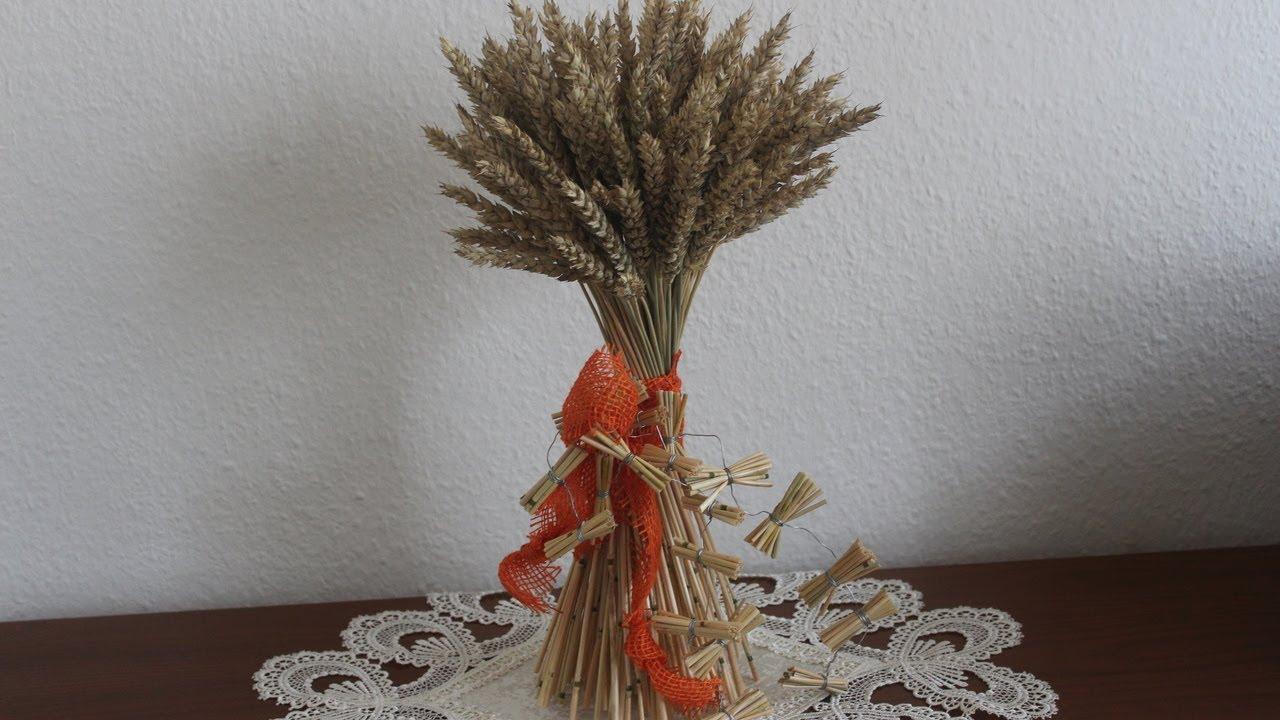 Sommer floristik stehstrau aus getreide deko ideen mit flora shop youtube - Sommer deko ideen ...