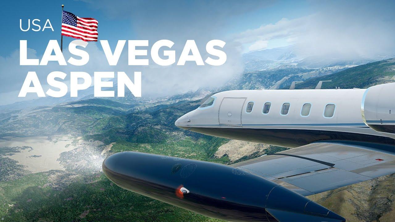 Prepar3D - Learjet 35A / Las Vegas → Aspen