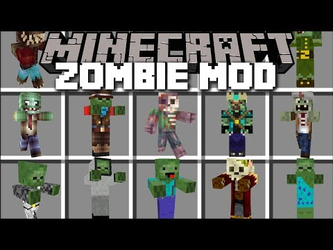 Minecraft ZOMBIE ATTACK MOD / DEFEND YOUR FRIENDLY ZOMBIE MARK FROM EVIL MONSTERS!! Minecraft