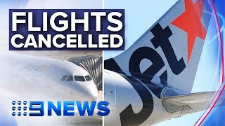Jetstar Staff Strike Cancels Over 100 Flights | Nine News Australia